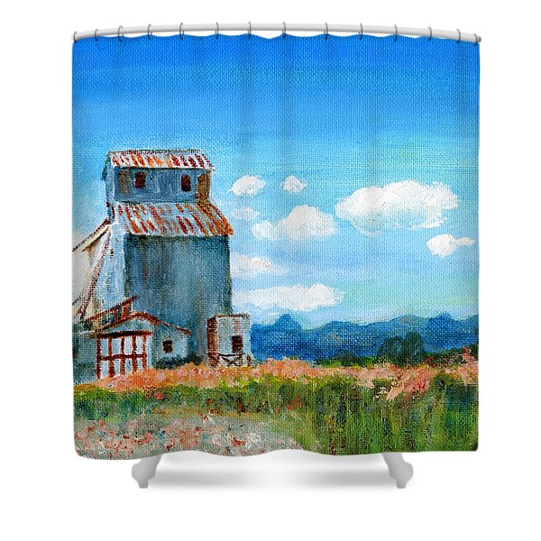 Willow Creek Grain Elevator II Shower Curtain