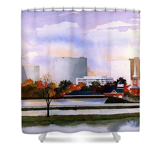 Wilmington Resevoir Skyline Shower Curtain