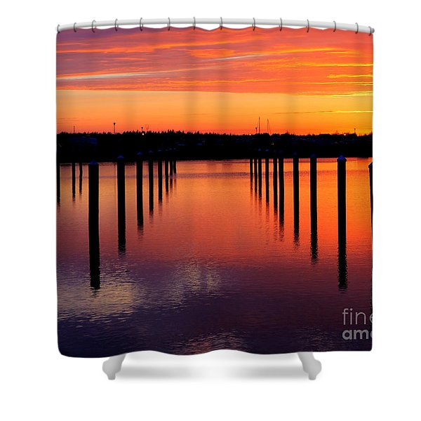 Winchester Bay Sunset Shower Curtain