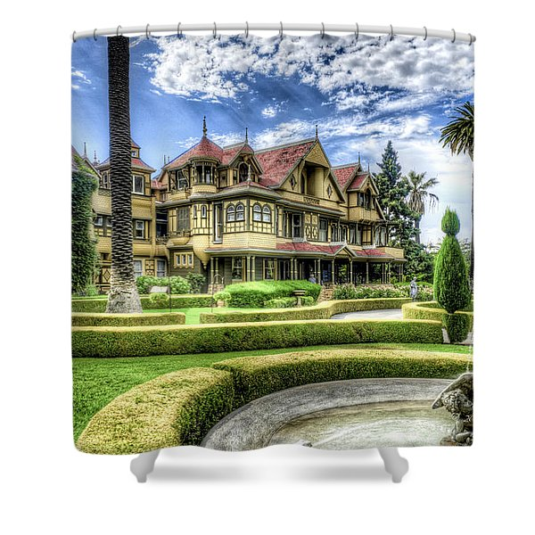 Shower Curtain featuring the photograph Winchester Mystery House by Jim Thompson