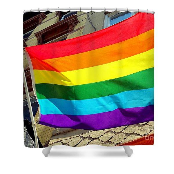 Wind Blown Pride Shower Curtain