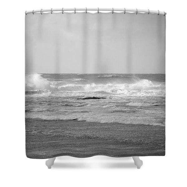 Wind Blown Waves Tofino Shower Curtain
