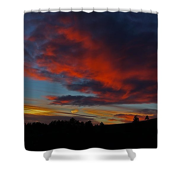 Black Hills Sunset Shower Curtain