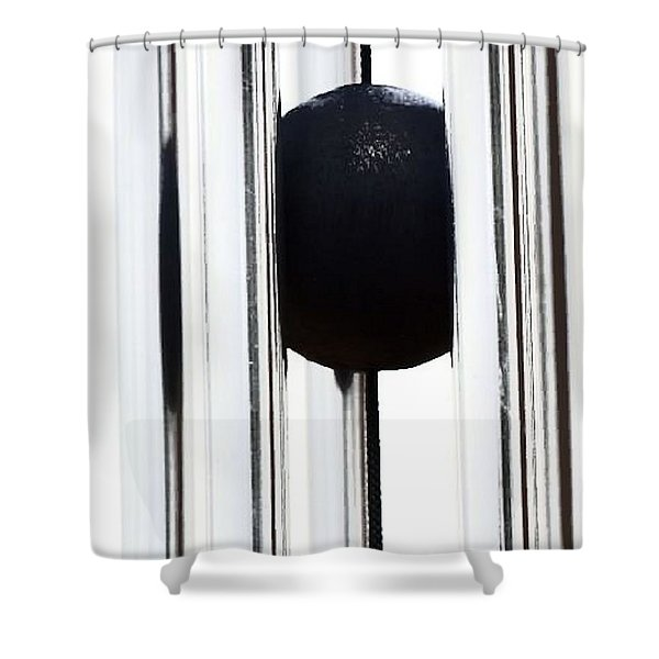 Wind Chime In Black And White Shower Curtain
