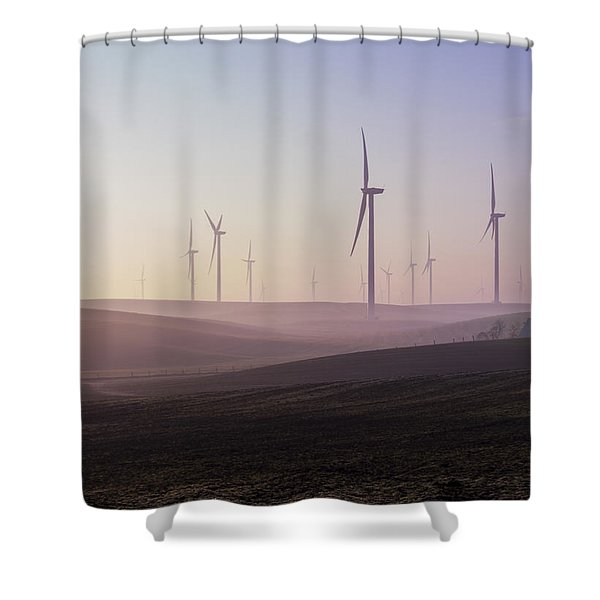 Wind Farm At Dawn Shower Curtain