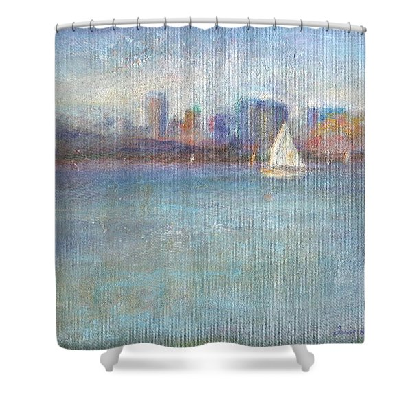 Wind In My Sails Shower Curtain