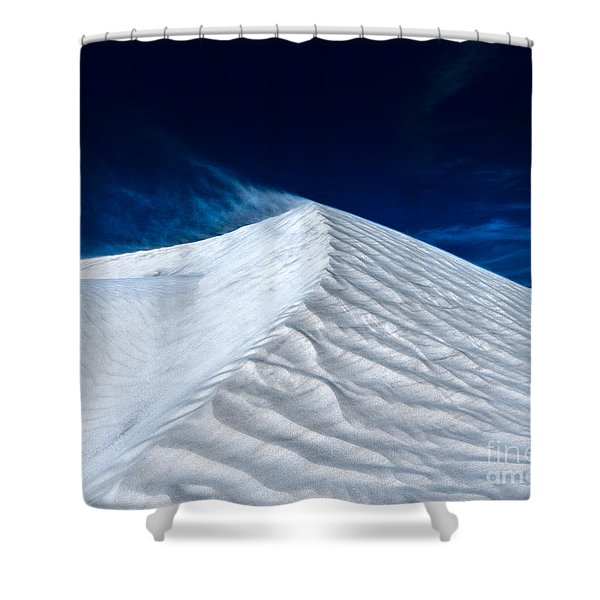 Wind Over White Sands Shower Curtain