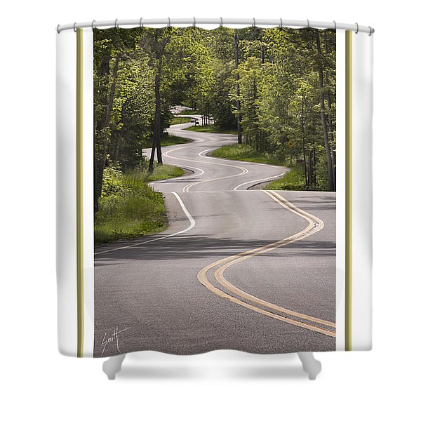 Winding Road Door County Shower Curtain