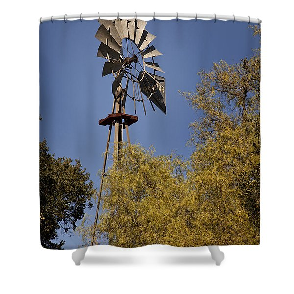 Shower Curtain featuring the photograph Windmill by David Millenheft
