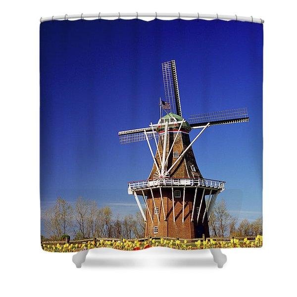 Windmill In A Tulip Field, De Zwaan Shower Curtain
