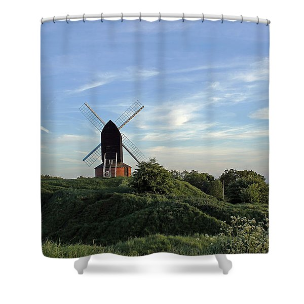 Windmill On Brill Common Shower Curtain