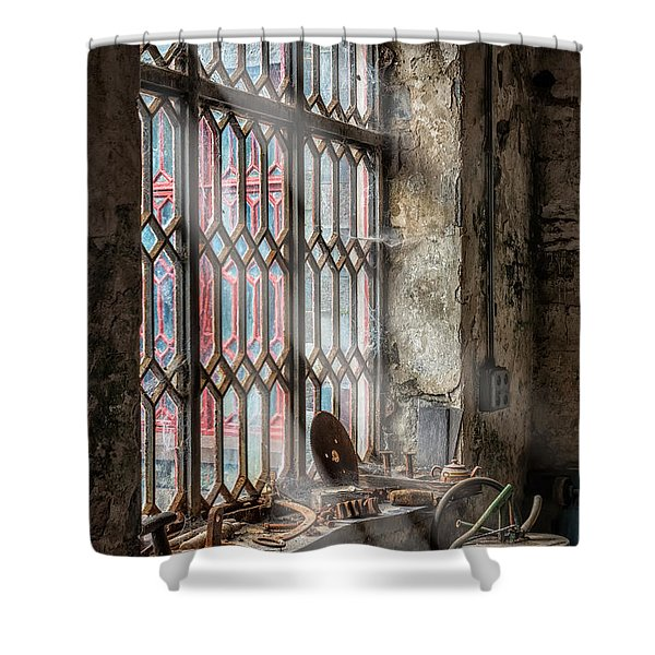 Window Decay Shower Curtain