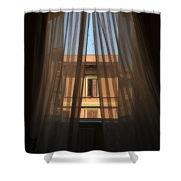 Window On Rome Shower Curtain