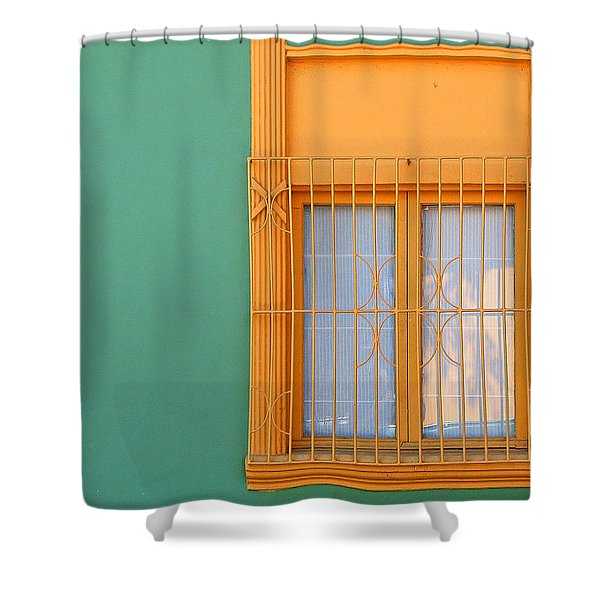 Windows Of The World - Santiago Chile Shower Curtain