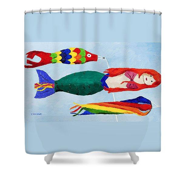 Windsocks Shower Curtain