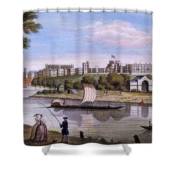Windsor Castle From Across The Thames Shower Curtain