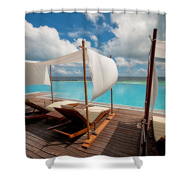 Windy Day At Maldives Shower Curtain