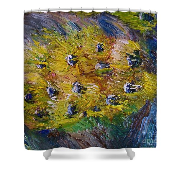 Shower Curtain featuring the painting Windy by Laurie Lundquist