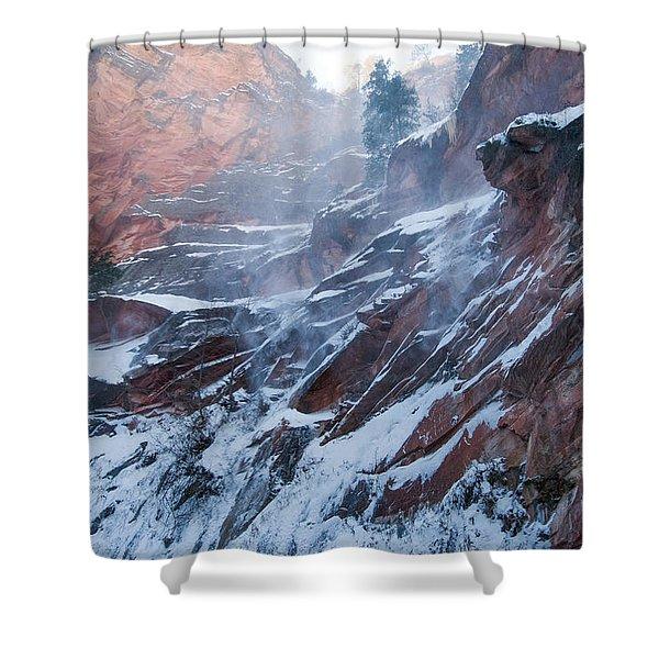 West Fork Windy Winter Shower Curtain