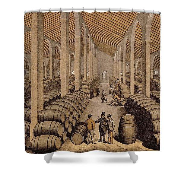 Wine Cellar At Jerez De La Frontera  Shower Curtain