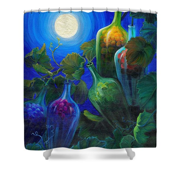 Shower Curtain featuring the painting Wine On The Vine by Sandi Whetzel