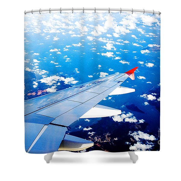 Wings And Clouds Shower Curtain