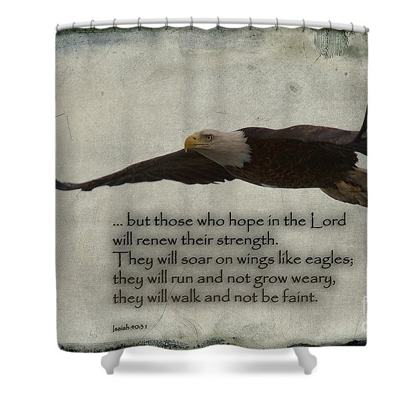 Wings Like Eagles Shower Curtain