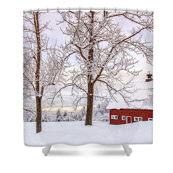 Winter Arrives Shower Curtain