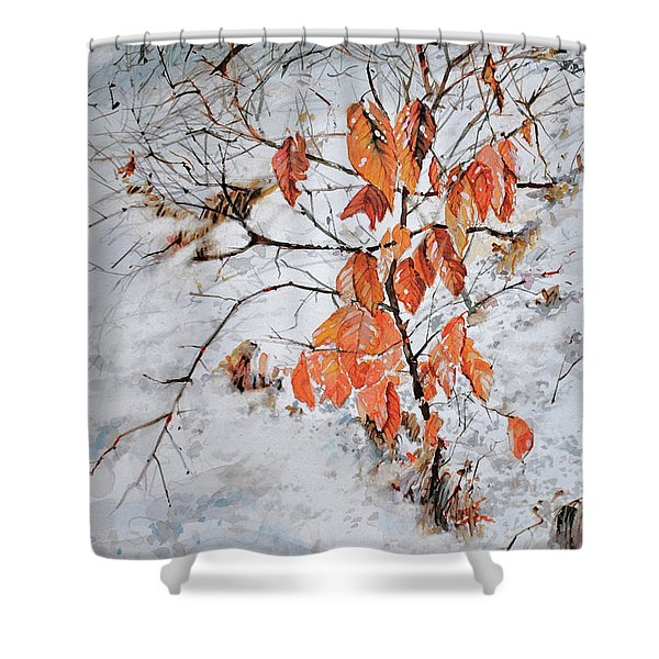 Winter Ash Shower Curtain