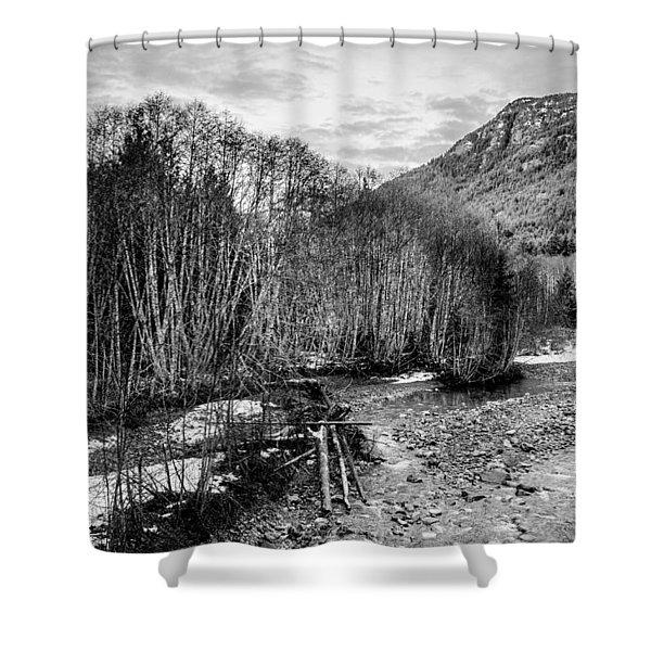 Winter Backroads Englishman River Shower Curtain