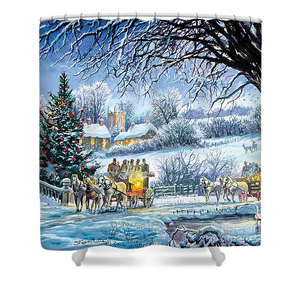 Winter Coaches Shower Curtain