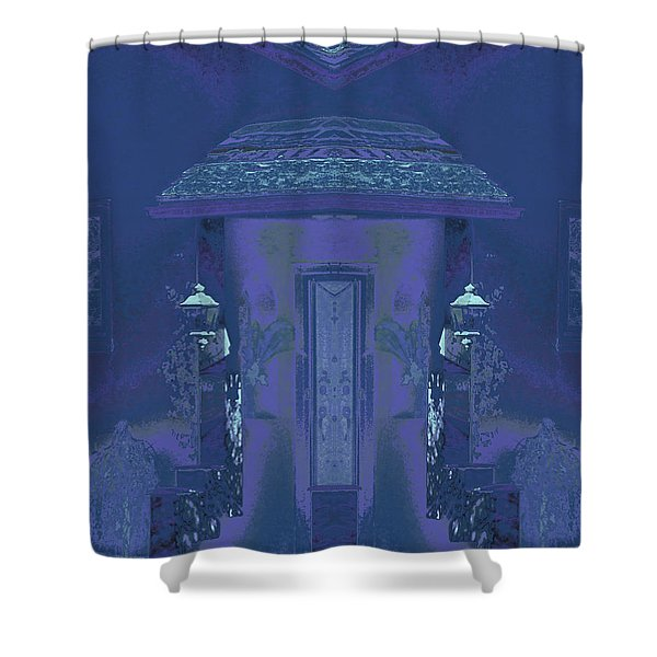 Winter Dusk Homecoming Shower Curtain
