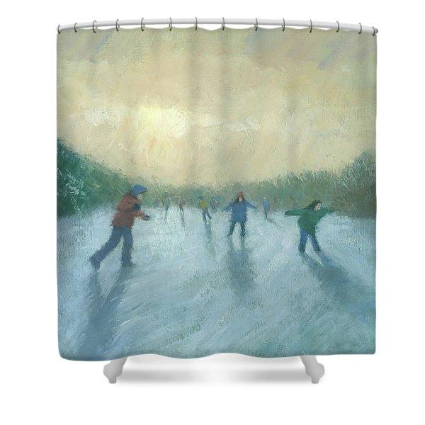 Winter Games Shower Curtain