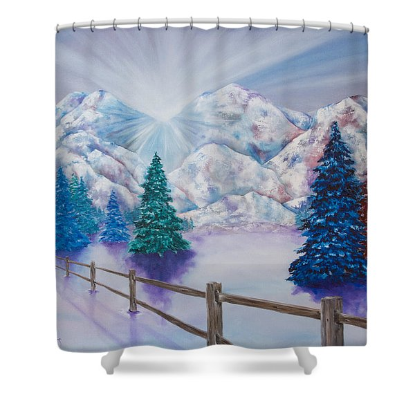 Winter Glow Shower Curtain