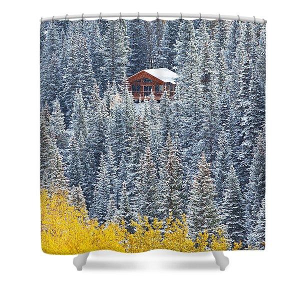 Winter Hideaway Shower Curtain