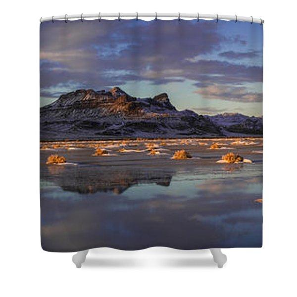 Winter In The Salt Flats Shower Curtain