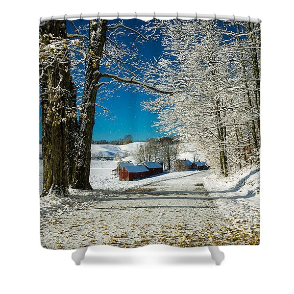 Shower Curtain featuring the photograph Winter In Vermont by Edward Fielding