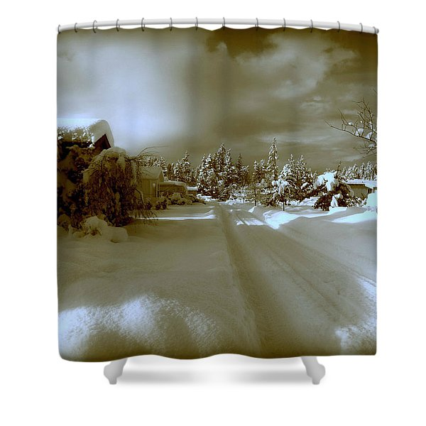 Winter Lane Shower Curtain