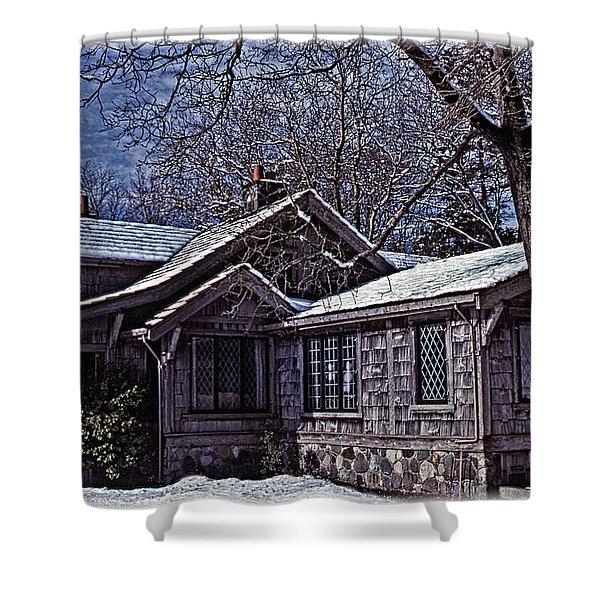 Winter Lodge Shower Curtain