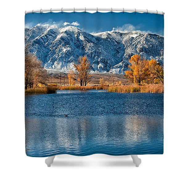 Winter Or Fall Shower Curtain