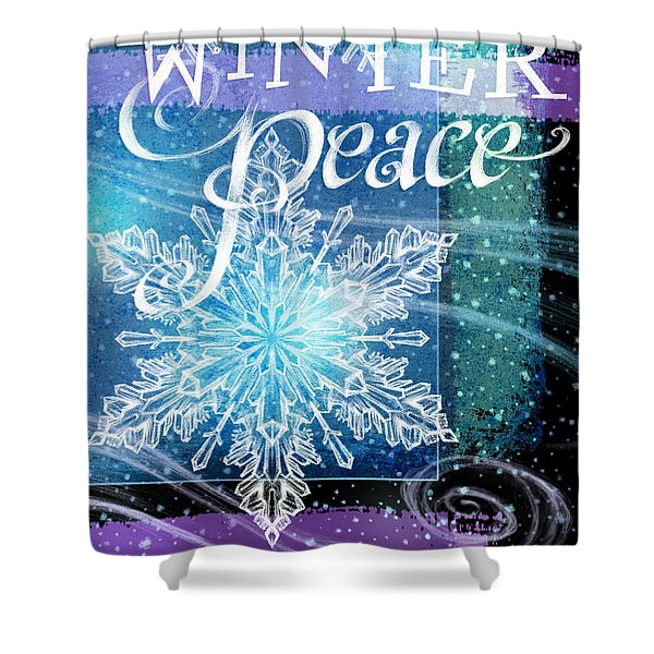 Winter Peace Greeting Shower Curtain
