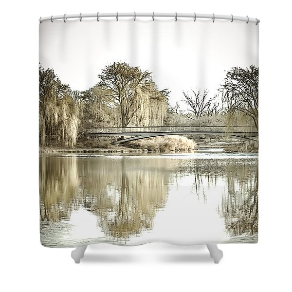 Winter Reflection Landscape Shower Curtain