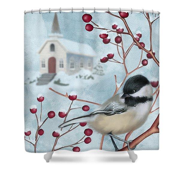 Winter Scene I Shower Curtain