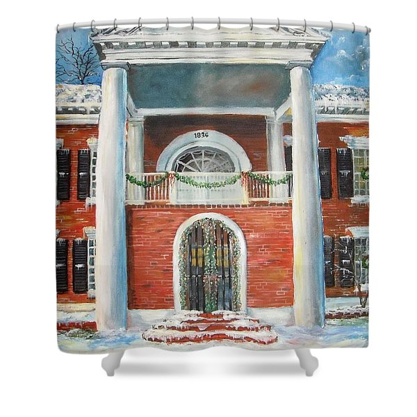 Winter Spirit In Dahlonega Shower Curtain