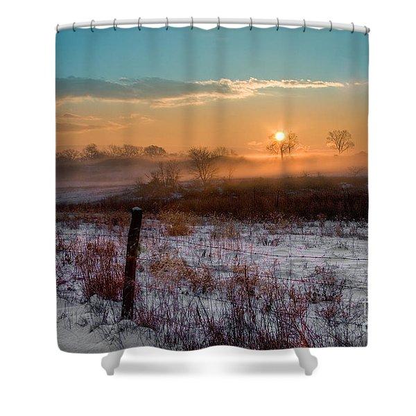 Winter Sunrise Shower Curtain