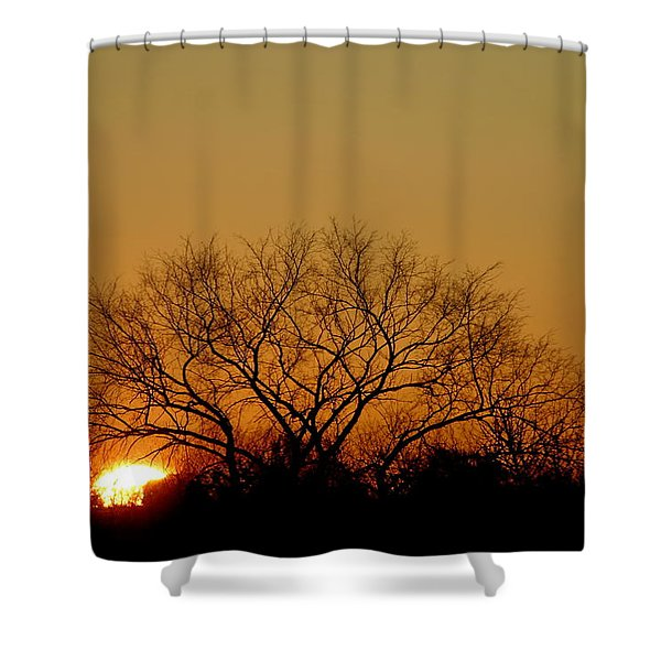 Shower Curtain featuring the photograph Winter Sunset by Leeon Photo