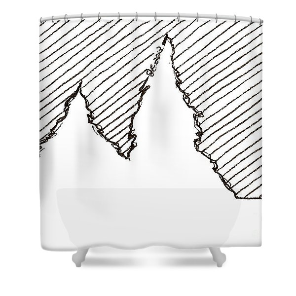 Winter Trees 2 - Aceo Shower Curtain