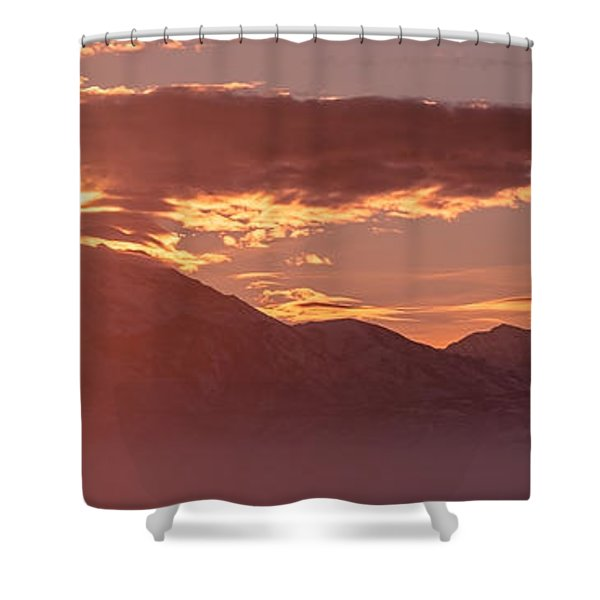 Winter Wasatch Daybreak Shower Curtain