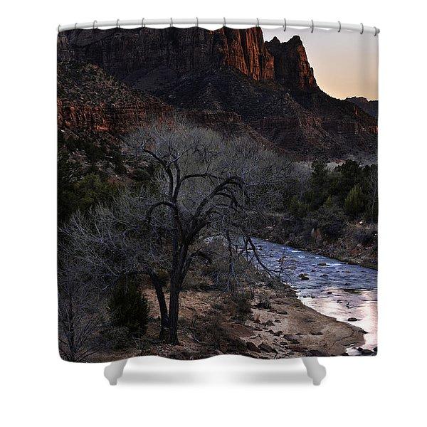 Winter Watchman Shower Curtain
