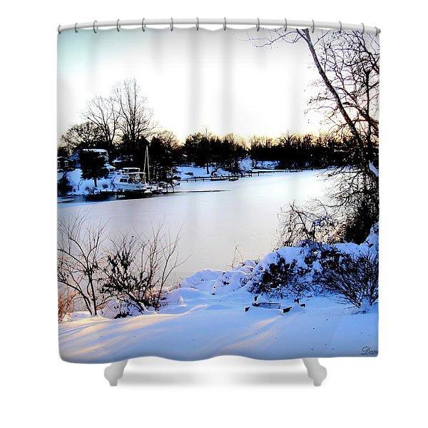 Winter Wonderland  In Maryland Usa Shower Curtain